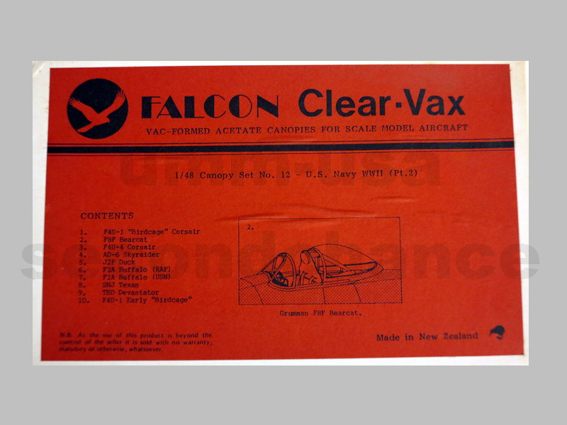 FL48-12 Clear-Vax US Navy WWII (Pt. 2) Canopy Set 1/48