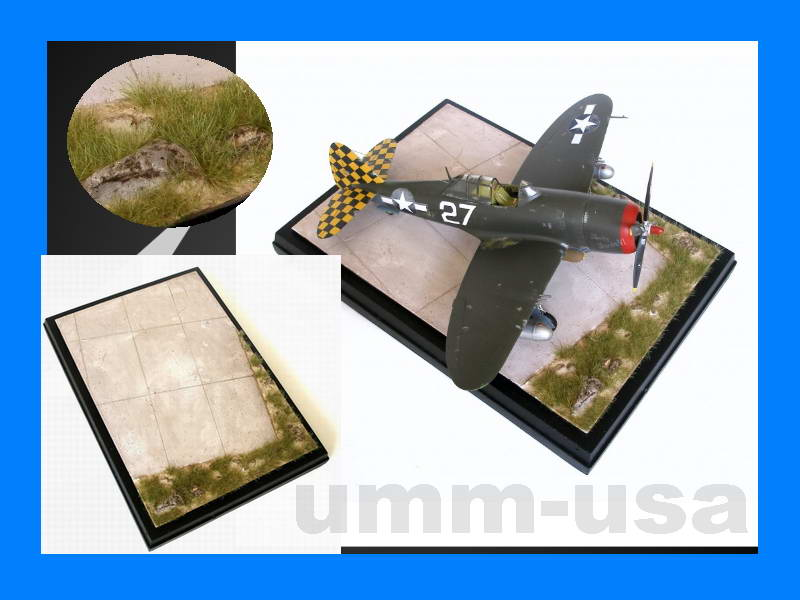 HM4B-06 Airfield with Land - Custom made Aircraft base 1/48