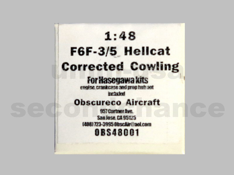 MX-OBS48001 F6F-3/5 Hellcat Corrected Cowling OBSCURECO 1/48