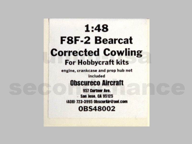 MX-OBS48002 F8F-2 Bearcat Corrected Cowling OBSCURECO 1/48