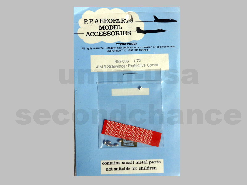 MX-RBF006 AIM 9 Sidewinder Protective Covers P.P. AEROPARTS 1/72