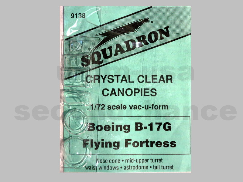 SQ72-9138 Boeing B-17G Flying Fortress Canopies 1/72