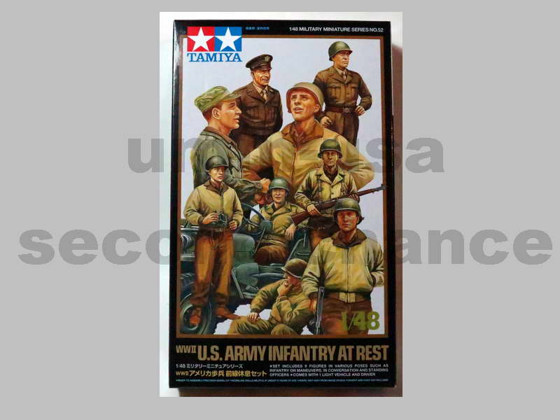 TM-MM52 WWII U.S. Army Infantry At Rest (B.17) 1/48